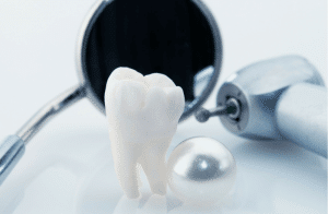 tooth, dental tools, mirror