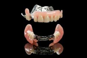 Upper and Lower Flexible Partial Dentures